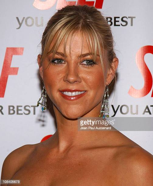 Candace Muzny NASCAR pilot during Hollywood Gets Healthy with Self Magazine Arrivals at Fred Segal Beauty in Santa Monica California United States
