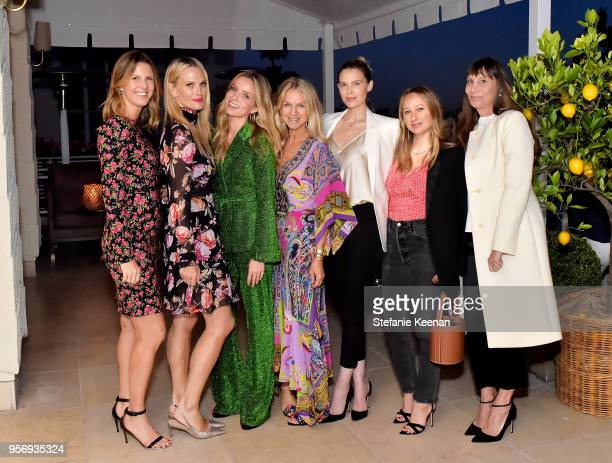Candace Nelson Molly Sims Annabelle Wallis Crystal Lourd Sara Foster Jennifer Meyer and Jacqui Getty attend Aerin Lauder Crystal Lourd and Jennifer...