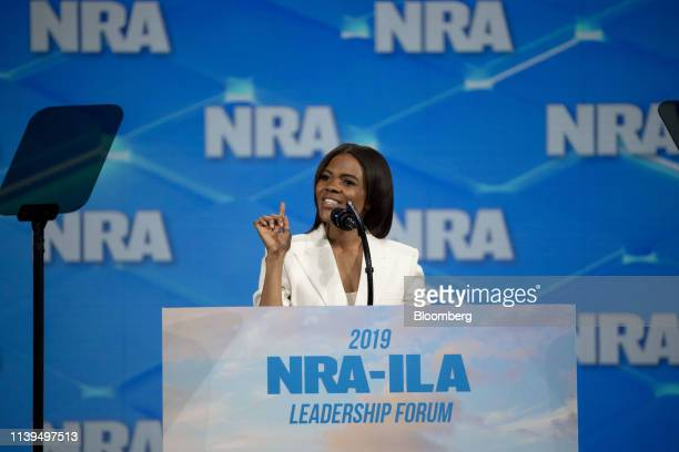Candace Owens conservative commentator and political activist speaks at the National Rifle Association Institute for Legislative Action Leadership...