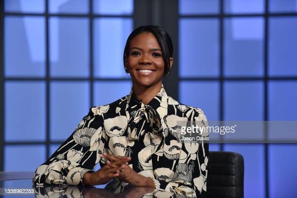 """Candace Owens is seen on set of """"Candace"""" on September 07, 2021 in Nashville, Tennessee. This taping marks the first time that the show was filmed..."""