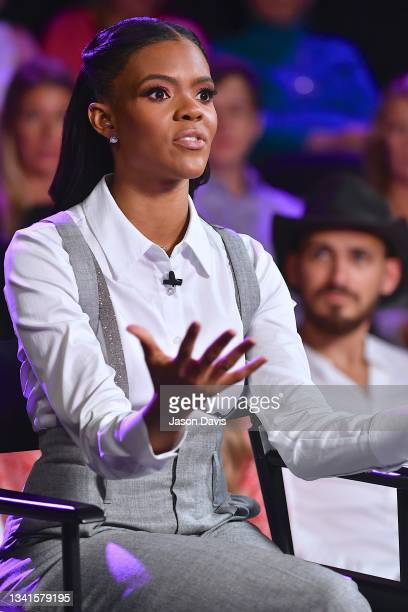 """Candace Owens is seen on set of """"Candace"""" on September 20, 2021 in Nashville, Tennessee. The show will air on Tuesday, September 21st."""
