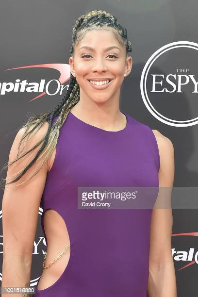 Candace Parker attends The 2018 ESPYS at Microsoft Theater on July 18 2018 in Los Angeles California