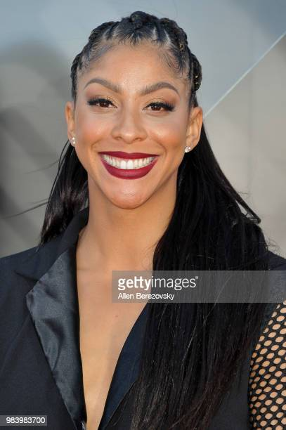 Candace Parker attends the 2018 NBA Awards Show at Barker Hangar on June 25 2018 in Santa Monica California