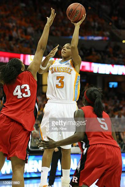 Candace Parker in the lane during the NCAA Women's Basketball National Championship at Quicken Loans Arena in Cleveland Ohio on April 3 2007