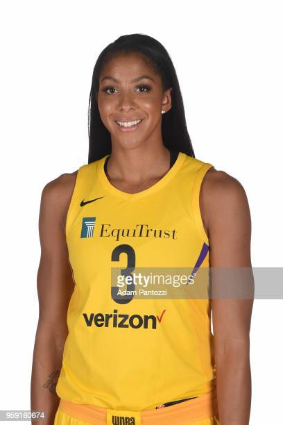 Candace Parker of the Los Angeles Sparks poses for a head shot during media day at the Los Angeles Athletic Club on May 15 2018 in Los Angeles...