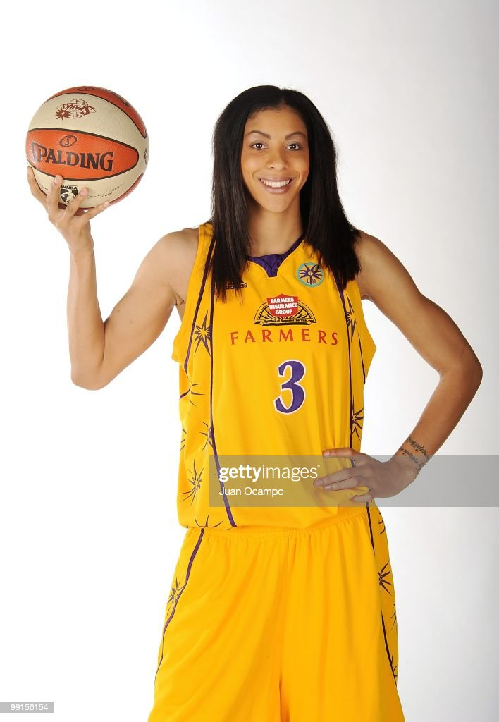 Candace Parker #3 of the Los Angeles Sparks poses for a portrait during WNBA Media Day on May 10, 2010 at St. Mary's Academy in Inglewood, California.