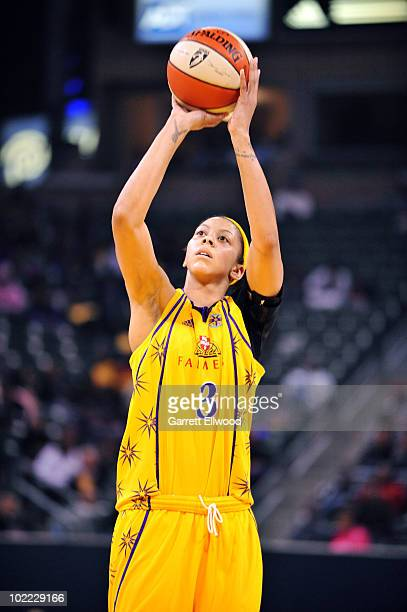 Candace Parker of the Los Angeles Sparks shoots a free throw during the game against the Seattle Storm on June 5 2010 at Home Depot Center Tennis...