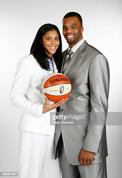 Candace Parker of the University of Tennessee number 1 overall pick by the Los Angeles Sparks and her fiancee SHeldon Williams from the Sacramento...