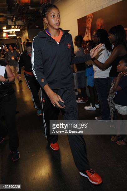 Candace Parker of the Western Conference AllStars walks out to the court before the 2014 Boost Mobile WNBA AllStar Game on July 19 2014 at US Airways...