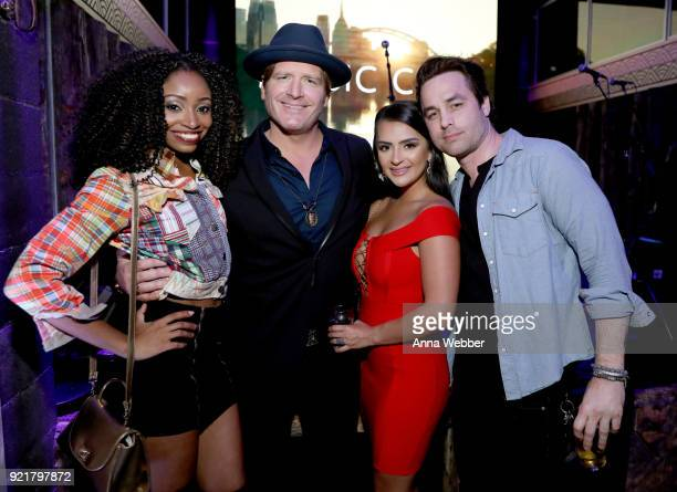 Candace Rice Jerrod Neimann Nilsa Prowant and guest attend CMT's Music City premiere party on February 20 2018 in Nashville Tennessee