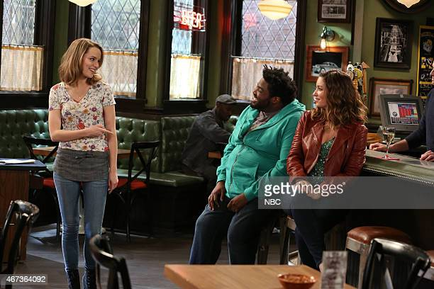 UNDATEABLE Candace's Boyfriend Walks Into A Bar Episode 202 Pictured Bridgit Mendler as Candace Ron Funches as Shelly Bianca Kajlich as Leslie