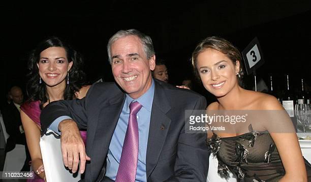 Candela Ferro, Jim McNamara, President of Telemundo and Danna Garcia