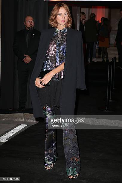 Candela Novembre arrives at Vogue 95th Anniversary Party as part of the Paris Fashion Week Womenswear Spring/Summer 2016 on October 3 2015 in Paris...