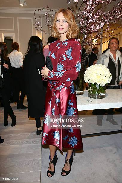 Candela Novembre attends Blumarine Store Opening Cocktail as part of Paris Fashion Week Womenswear Fall/Winter 2016/2017 on March 5 2016 in Paris...