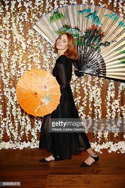Candela Novembre attends Chinese New Year Party at Mandarin Oriental on February 8 2016 in Milan Italy