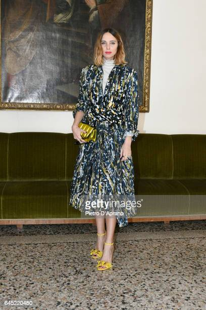 Candela Novembre attends the Blumarine show during Milan Fashion Week Fall/Winter 2017/18 on February 25 2017 in Milan Italy