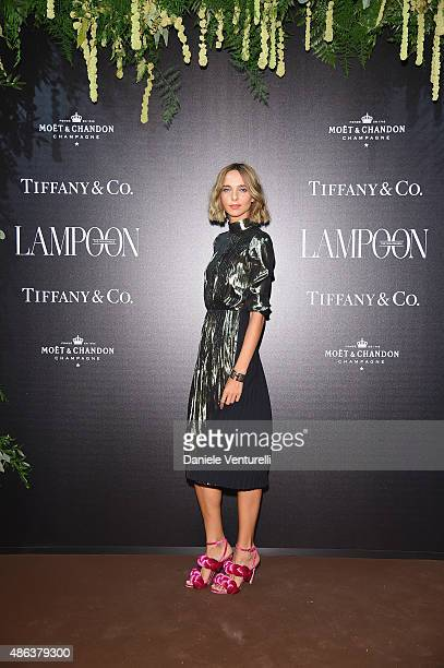 Candela Novembre attends the Lampoon Gala during the 72nd Venice Film Festival at Palazzo Pisani Moretta on September 3 2015 in Venice Italy
