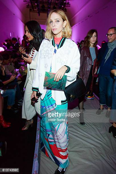 Candela Novembre attends the Leonard Paris show as part of the Paris Fashion Week Womenswear Spring/Summer 2017 on October 3 2016 in Paris France