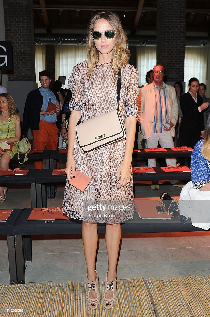 Candela Novembre attends the Missoni Collection show during Milan Menswear Fashion Week Spring Summer 2014 on June 23, 2013 in Milan, Italy.