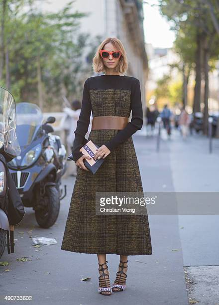 Candela Novembre during Paris Fashion Week Womenswear Spring/Summer 2016 on September 30 2015 in Paris France