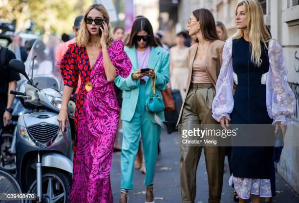 Candela Novembre, Gilda Ambrosio, Giorgia Tordini, Ada Kokosar seen outside Marni during Milan Fashion Week Spring/Summer 2019 on September 23, 2018...