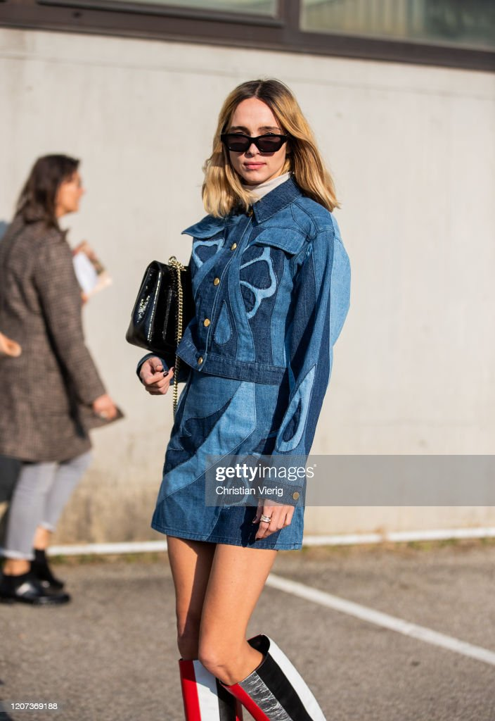Street Style: February 19th - Milan Fashion Week Fall/Winter 2020-2021 : News Photo