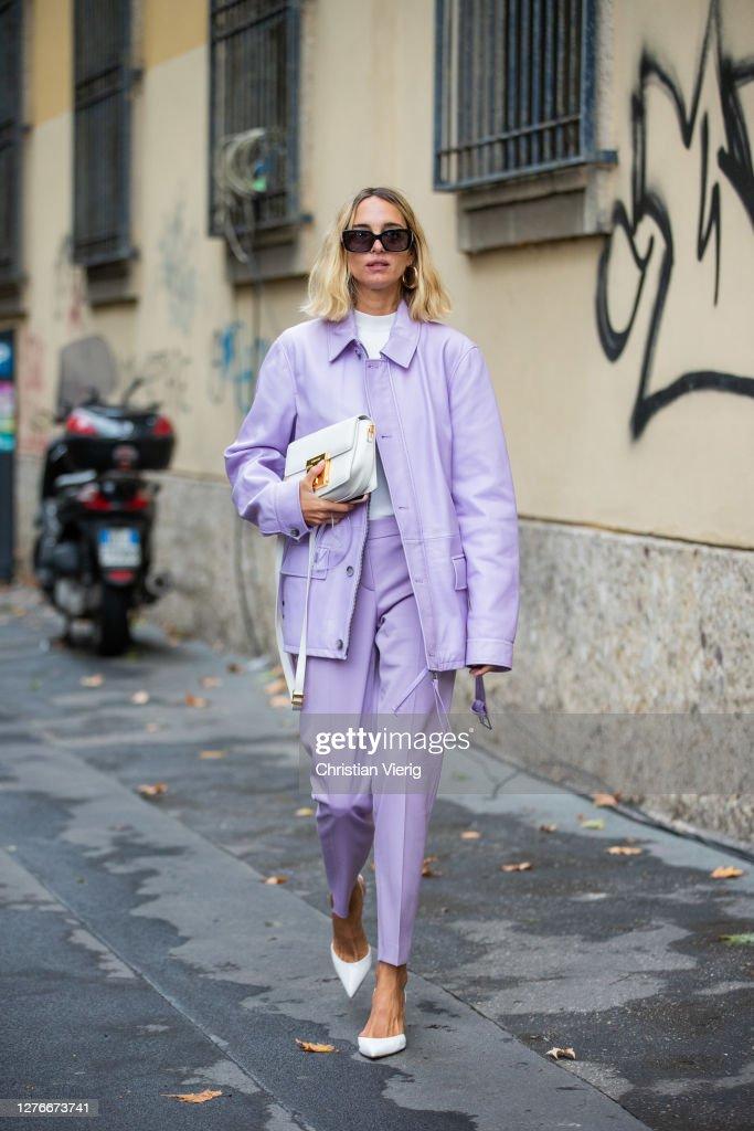 Street Style: September 25 - Milan Fashion Week Spring/Summer 2021 : News Photo