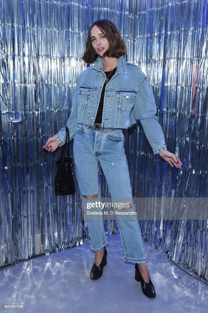Candela Pelizza attends ELIZABETH SULCER X MISS SIXTY on February 21, 2018 in Milan, Italy.