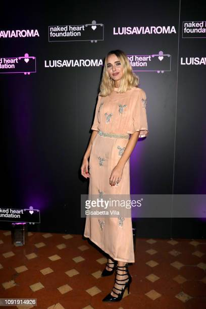 Candela Pelizza attends LuisaViaRoma and Naked Heart Foundation Dinner on January 09 2019 in Florence Italy
