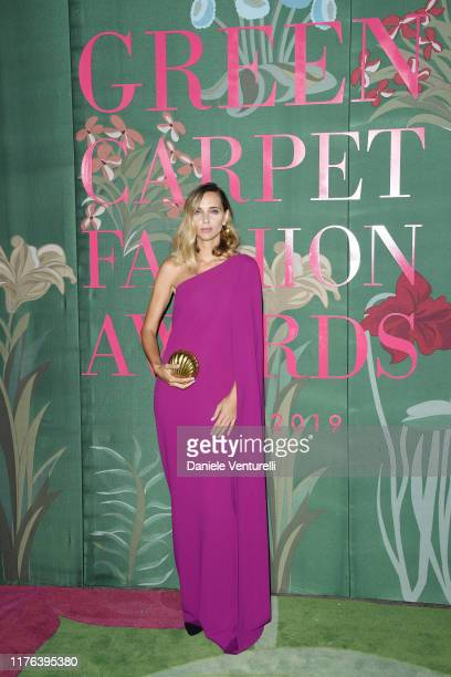 Candela Pelizza attends the Green Carpet Fashion Awards during the Milan Fashion Week Spring/Summer 2020 on September 22 2019 in Milan Italy