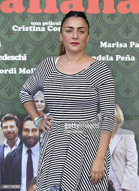 Candela Pena attends a photocall for 'Mi Familia Italiana' at Princesa Cinema on July 15 2015 in Madrid Spain