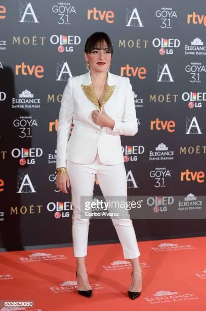 Candela Pena attends Goya Cinema Awards 2017 at Madrid Marriott Auditorium on February 4 2017 in Madrid Spain