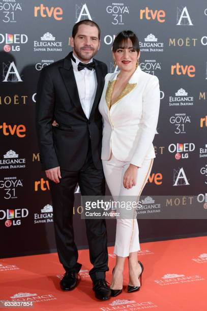Candela Pena attends Goya Cinema Awards 2017 at Madrid Marriott Auditorium on February 4 2017 in Madrid Spain