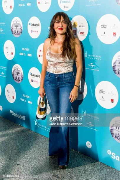 Candela Pena attends Rosaio concert at Teatro Real on July 28 2017 in Madrid Spain