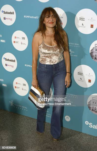 Candela Pena attends Rosario concert at the Royal Theatre on July 28 2017 in Madrid Spain