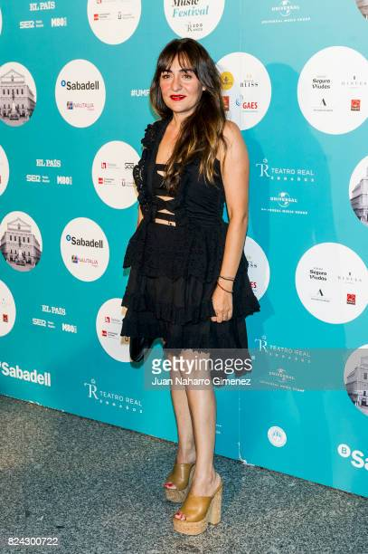 Candela Pena attends Tom Jones concert at the Royal Theatre on July 29 2017 in Madrid Spain