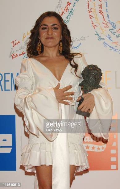 Candela Pena during 2006 Spanish Academy Cinema Goya Awards at Palacio de Congresos in Madrid Spain