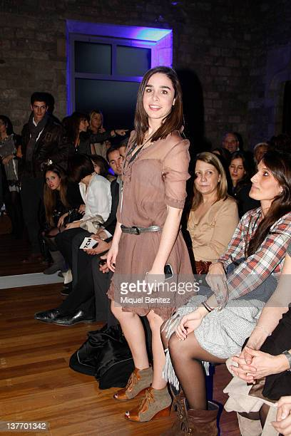 Candela Serrat Tiffon attends the frontrow at the runway in the TCN fashion show during the 080 BCN Fashion Week Fall/Winter 2012-2013 on January 25,...
