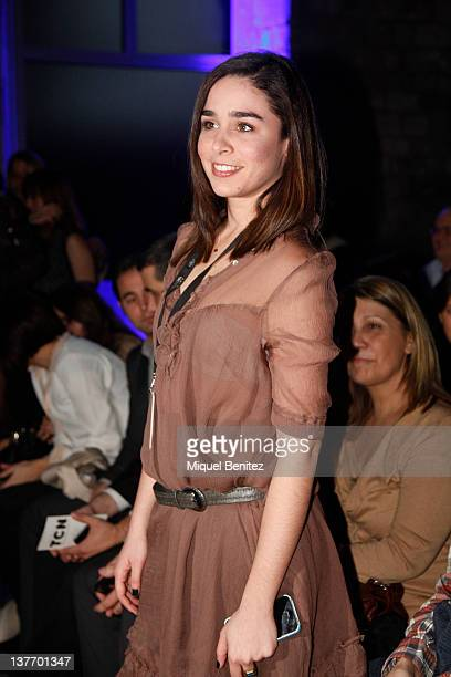 Candela Serrat Tiffon attends the frontrow at the runway in the TCN fashion show during the 080 BCN Fashion Week Fall/Winter 20122013 on January 25...