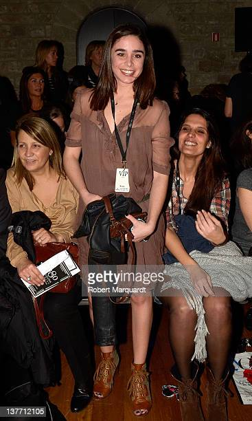 Candela Serrat Tiffon attends the TCN's fashion show at the 080 Barcelona fashion week on January 25 2012 in Barcelona Spain