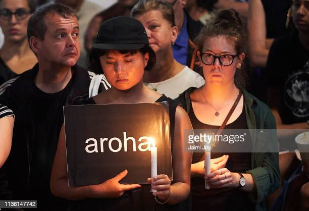 Candelit Prayer is held outside the State Library of Victoria on March 16 2019 in Melbourne Australia 49 people are confirmed dead with with 36...