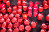 candles catholic temple andalusia south spain
