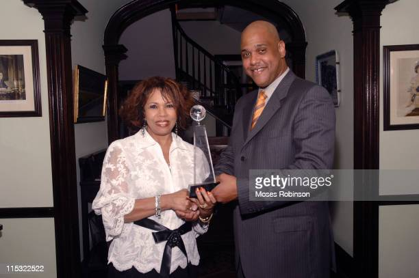Candi Staton and Dr Randolph King during King Foundation Hosts PreAwards Dinner at the Graycliff Restaurant at Graycliff Restaurant in Nassau Bahamas