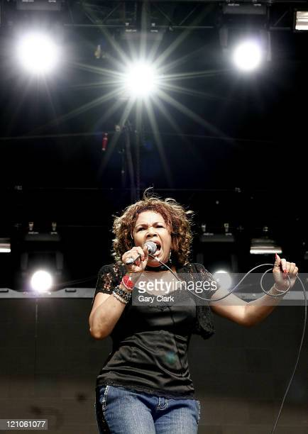 Candi Staton during Volvic Lovebox Weekender Music Festival Day 1 at Victoria Park in London United Kingdom