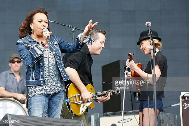 Candi Staton Jason Isbell and Amanda Shires perform on day 1 of the 2014 Governors Ball Music Festival at Randall's Island on June 6 2014 in New York...