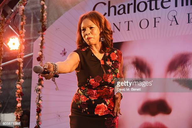 Candi Staton performs as Charlotte Tilbury celebrates the launch of her first fragrance Scent Of A Dream with 'face' Kate Moss featuring a surprise...