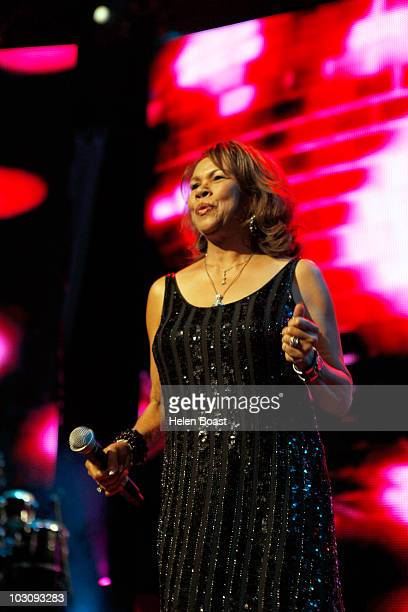 Candi Staton performs on stage for Defected In The House on July 23 2010 in London England