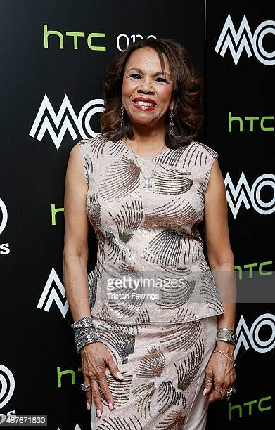Candi Staton poses in the winners room at the MOBO Awards at SSE Arena on October 22 2014 in London England