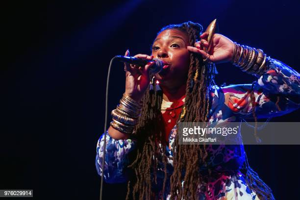 Candice Antique Davis performs at The Fillmore on June 15 2018 in San Francisco California