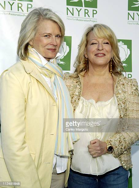 Candice Bergen and Bette Midler during Bette Midler's New York Restoration Project's 5th Annual Spring Picnic at Highbridge Park in New York City New...